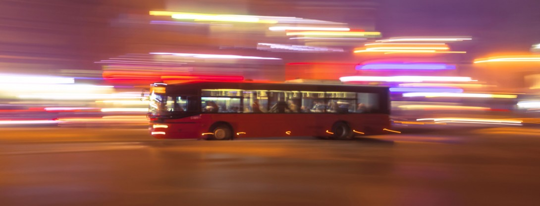 Blurred bus